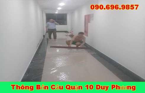 Thông cống bị trào ngược tại Quận 10 giá rẻ 0903737957 BH 5năm