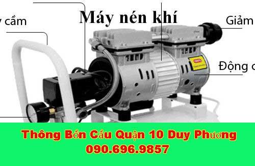Thông bồn cầu máy nén khí hiệu quả tiện lợi