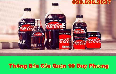 Thông bồn cầu bằng Coca bằng những cách thực hiện dễ dàng